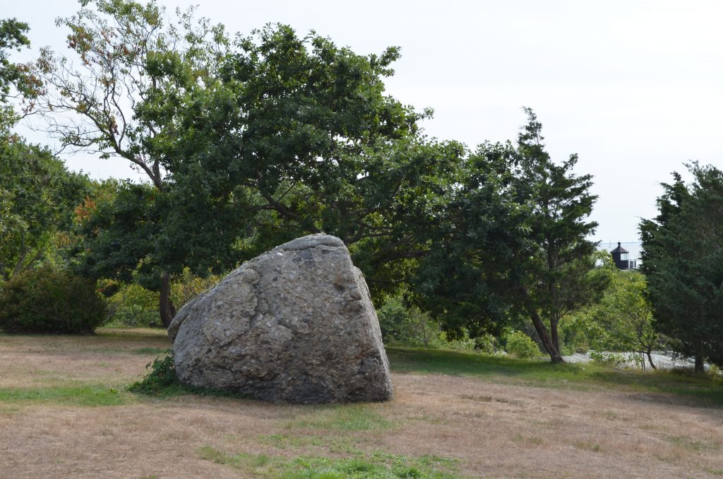 Picture of boulder on Nature Walk tour