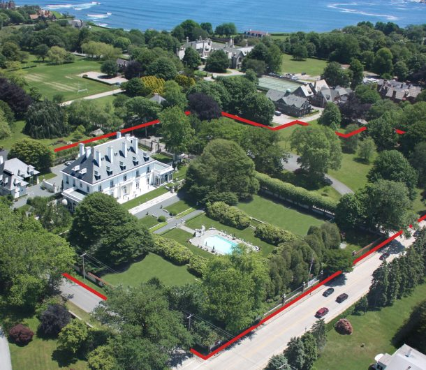 Aerial View of Vernon Court in Newport