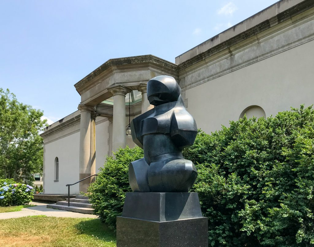 Statue outside Newport Art Museum
