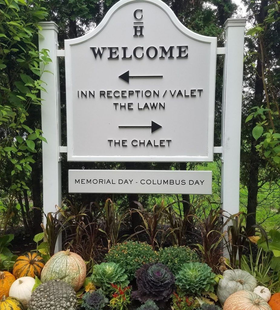 Picture of Welcome sign in Autumn