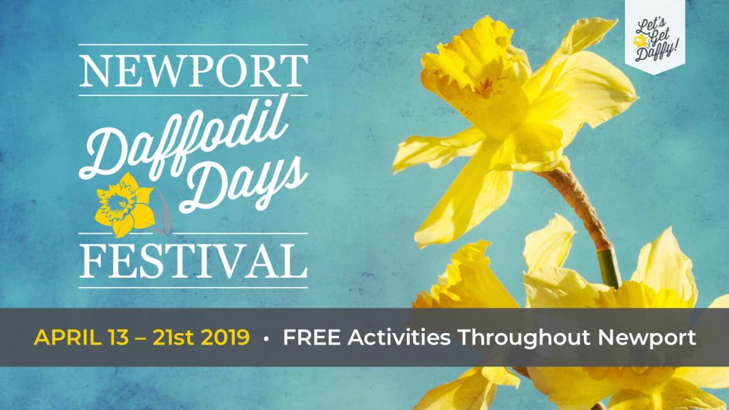 2019 Daffodil Days Festival logo from April 13 to 21, 2019