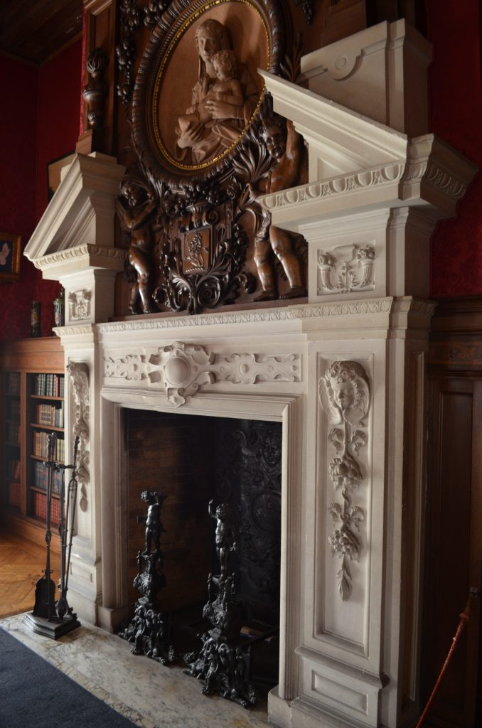 Fireplace at The Elms