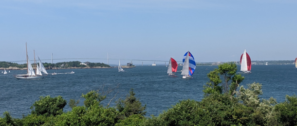 Sailing out front of Castle Hill